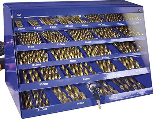 Bohrer Aufbewahrungskasten mit 188-teiligem HSS Spiralbohrer Set