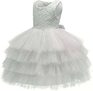 90fb369b3 Baby Girl Dresses Ruffle Lace Pageant Party Wedding Flower Girl Dress