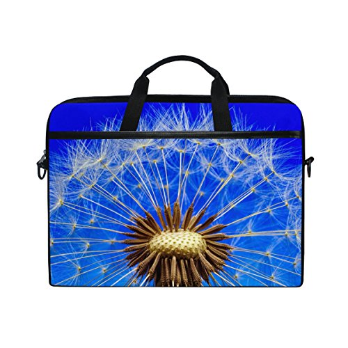 Ahomy 14 Zoll Laptoptasche Natur Pusteblumen-Stoff Laptop Tasche Bussiness Handtasche mit Schultergurt für Damen und Herren