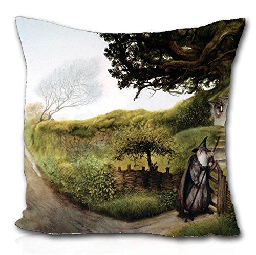 Gandalf el Señor de los anillos libros la manta funda de almohada de la comarca (45,72cm x 45,72cm)