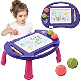 Toys for 2-3 Year Old Girls,Magnetic Drawing Board,Toddler Toys for Girls,Baby Toys for 18 Months,Kids Toys Magna Writing Doodle Table,Educational Toys Gifts for Age 1 2 3 4 Kids Girls Boys Birthday