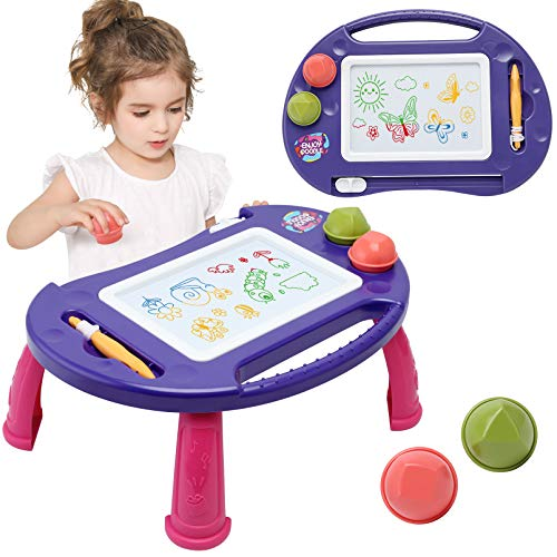 Toys for 1-2 Year Old Girls,Magnetic Drawing Board,Toddler Toys for Girls,Baby Toys for 18 Months,Kids Toys Magna Writing Doodle Table,Educational Toys Gifts for Age 1 2 3 4 Kids Girls Boys Birthday