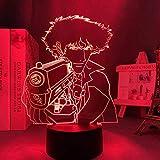 Lámpara de sueño LED 3D cowboy7 Lámpara de mesa de color USB Mood Artístico Niños Dormitorio Iluminación para dormir junto a la cama-7 colores Toque