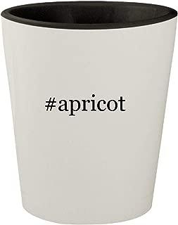 #apricot - White Outer & Black Inner Hashtag Ceramic 1.5oz Shot Glass