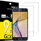 NEW'C 2 Unidades, Protector de Pantalla para Samsung Galaxy J5 Prime, Antiarañazos, Antihuellas, Sin Burbujas, Dureza 9H, 0.33 mm Ultra Transparente, Vidrio Templado Ultra Resistente