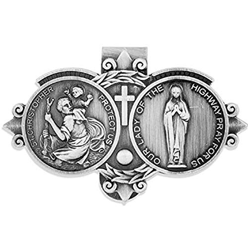 Catholic Visor Clip for Protection While Driving | Beautiful and Traditional Design | Makes a Great Gift for Teens and New Drivers | More Than 10 Designs Available