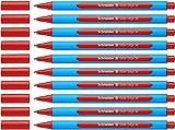 Schneider Slider Edge M Kugelschreiber (Strichstärke: M, dokumentenecht, Dreikant-Stift) 10er Packung rot