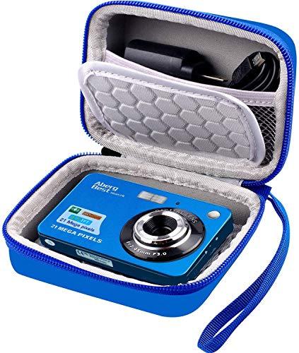 Digitalkamera-Tasche kompatibel mit VOXPAN Digitalkamera 8X Digital Zoom HD Digitalkamera & AbergBest 21 Megapixel studenten zubehör (Blau)