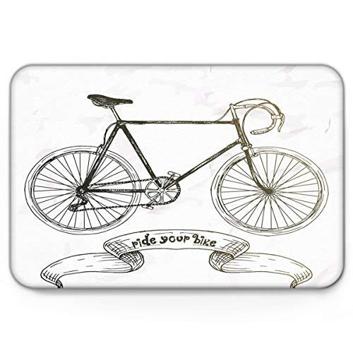 OPLJ Alfombrillas de Puerta con patrón de Bicicleta, alfombras Antideslizantes, Alfombrillas de baño, Alfombrillas de Entrada al Aire Libre, Alfombrillas Lavables A12, 60x90cm