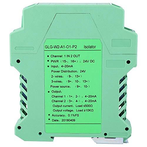 Aislador de señal de corriente, DC 24V Acondicionador de señal Transmisor de aislamiento de señal de corriente 4-20mA PLC Detector de señal de detección(#4)