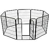 UISEBRT Welpenlaufstall Freilaufgehege Laufstall Zaun - Freigehege für Kleintiere,Hunde,Kaninchen und Nager (75 x 80cm, 8 Stück)