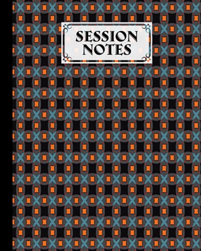 """Session Notes Log: A Logbook to Record Client Appointments, Psychotherapists and Clinicians With Stars Cover   120 Pages, Size 8"""" x 10"""" by Artur Hirsch"""