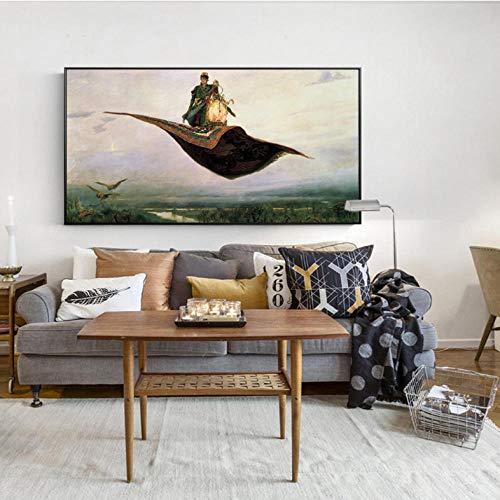 pcrcp Auf der Carpe Wandkunst Leinwand Russische Gemälde Bilder Für Wohnzimmer-30cmx60cm