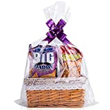 Clear Basket Bags, 25 Pack Large Cellophane Wrap for Baskets and Gifts, 16x24 Inches Cellophane Bags, 1.2 Mil Thick