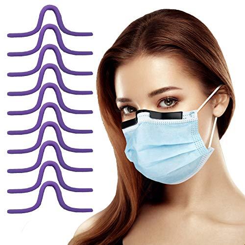 Silikon Mundschutz-Nasenrücken-Halter 10 Stück Nasenbügel, Anti-Nebel bei kaltem Wetter,Verhindern Beschlagen von Gläsern,Erhöhen Sie den Raum für eine reibungslose Atmung