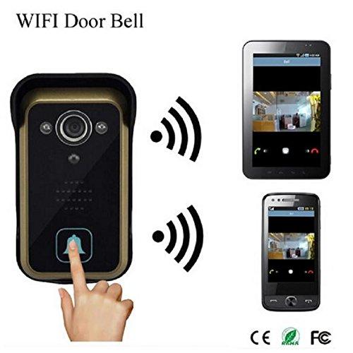 BW, campanello WiFi, videocitofono WiFi HD 720p, telecamera wireless, supporta iOS e Android, per iPad, smartphone, tablet, monitor remoto