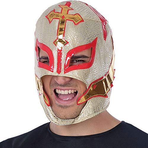 Atosa-34946 Mscara Luchador Enmascarado Mexicano, color blanco (34946)