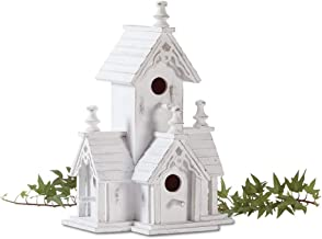 Highest_Shop Modern Luxury New Cozy Space Victorian Garden Bird House Castle Nesting Box Yard Outdoor Decor Porch Patio Tr...