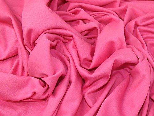 Interlock-Stretch-Jersey-Stoff, Meterware, Baumwolle, einfarbig