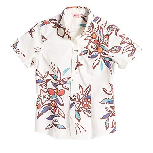[MAJUN (マジュン)] 国産シャツ かりゆしウェア アロハシャツ 結婚式 レディース シャツ ボタンダウン ミラクルフルーツ カラフル S
