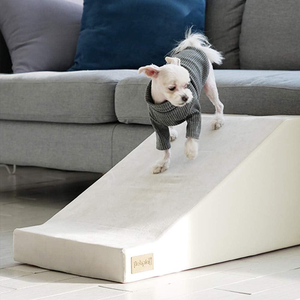 Rampa Piscina Perros, Peldaños para Mascotas con Escalera De Esponja para Camas Altas Y Sofá, Lavables Y Extraíbles Portátiles para Perros Pequeños Y Mascotas