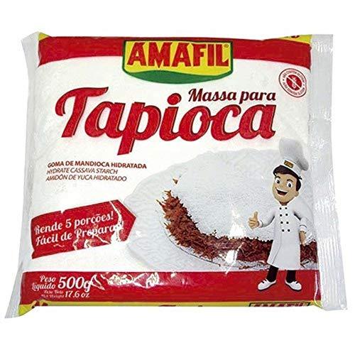 Amafil Tapioca Flour 500g (17.6oz) Massa Para Tapioca (One Pack)