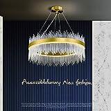 zZZ Candelabro De Cristal Creativo Estilo Postmoderno De Hong Kong, Salón Nórdico Simple, Comedor, Proyecto, Iluminación De Vidrio Personalizada Candelabro de Moda (Size : 60cm)