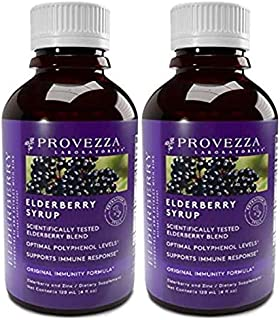 Premium Elderberry Syrup 2-Pack with Zinc and Antioxidants, Advanced Plant-Based Immune and Skin Support, Daily Herbal Sup...