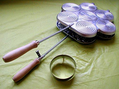 LA TIGELLA tigelliera 7 posti in alluminio alimentare con Tagliatigelle Cod. 370