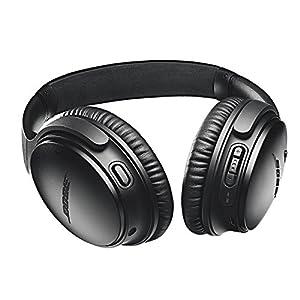 Bose QuietComfort 35 Series II Wireless Headphones, Black, Noise Cancelling with Budrug LLC Airplane Flight Adapter - Worldwide Version Bundle