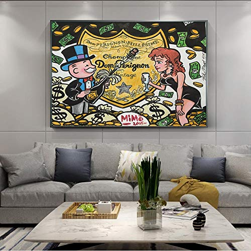 Jigsaw Puzzle for Adults 1000 pcs 50x75cm Doodle art champagne money Every pcs is unique Ideal Educational Games for Relaxation, Meditation, Hobby