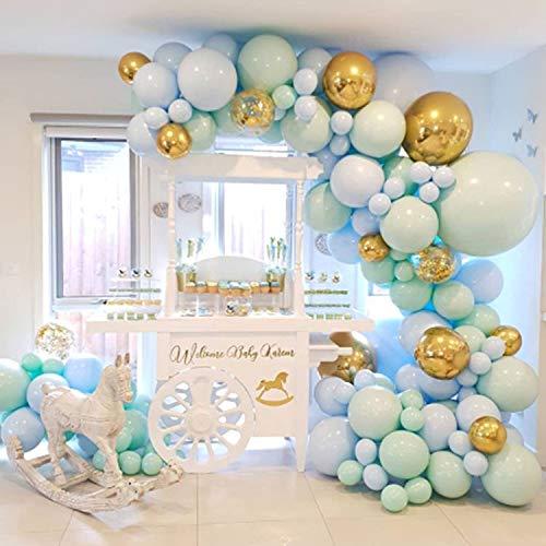 xingguang Globos para decoración de globos, paquete de 126 globos pastel, guirnalda de confeti para aniversario, boda, fiesta, decoración, fiesta de cumpleaños de bebé (color como la foto)