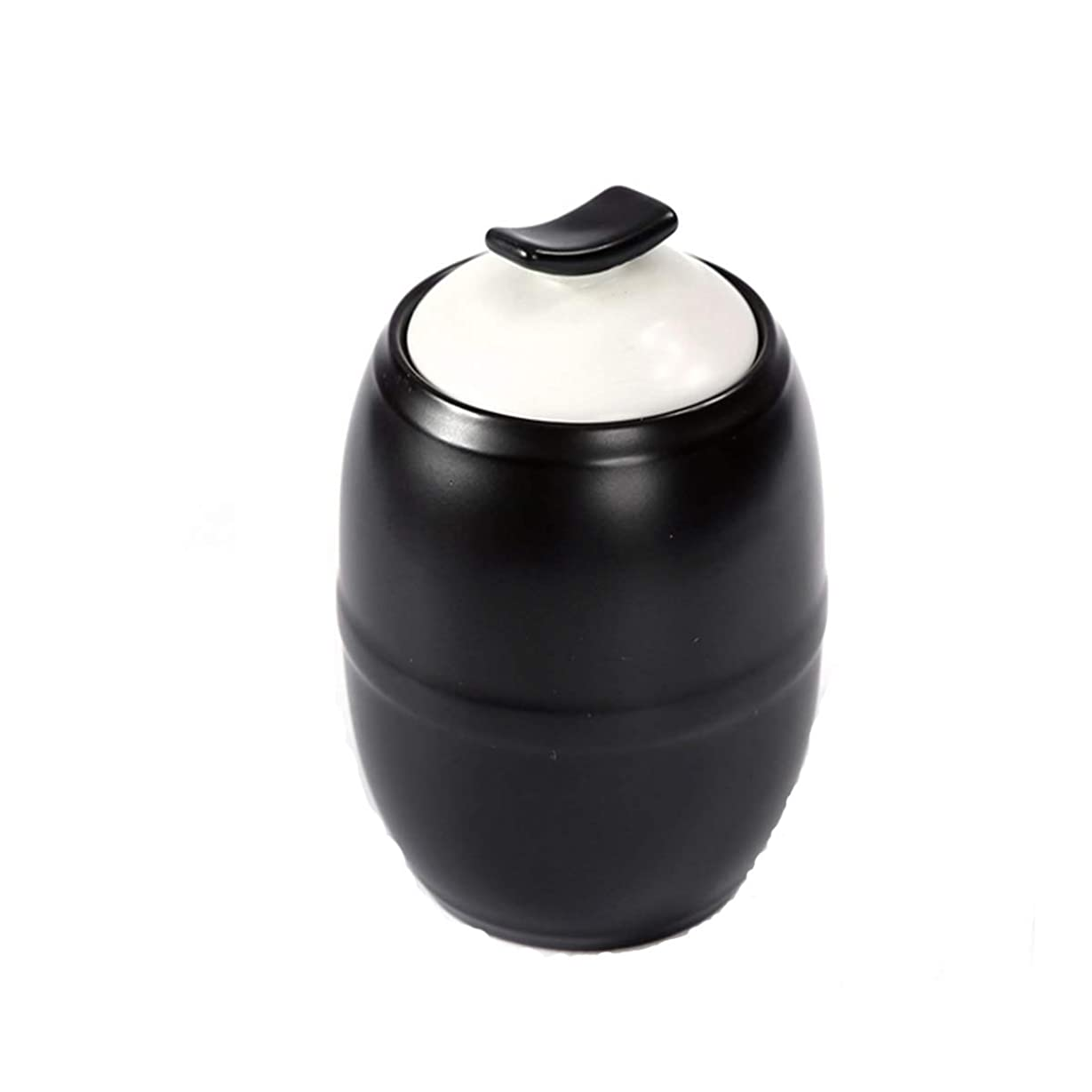 偶然のセント効能SHENGSHIHUIZHONG GuyuexuanPet棺桶、骨壷、動物の棺桶、兼用、猫と犬の死のお土産、手作りのセラミック封印された缶 (Color : Black)