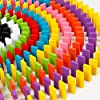 Blossom Pack of 2 (120 PCs Each Pack) Colorful Wooden Domino Set for Kids Colourful Wooden Dominos Toy Colourful Wooden Blocks… #3