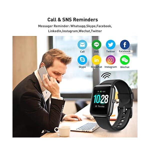 Reloj Inteligente Mujer,Smartwatch Hombre Impermeable IP68 Pulsera Actividad 1.3 Pulgada con Monitor de Ritmo cardíaco… 8