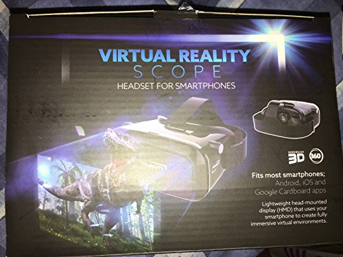 Virtual reality 3D headset scope for smartphones