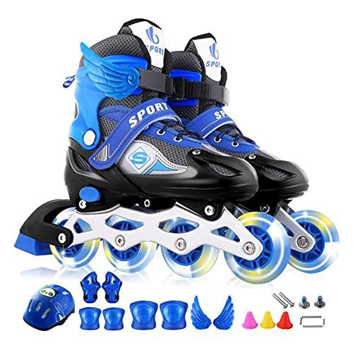 Patines de ruedas para niños, principiantes, patines, patines, para adolescentes, niñas, niños y niñas