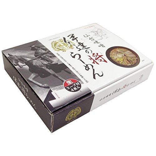 伊達の将らーめん 仙台味噌味 (生めん) 4食入り×2箱セット めんのマルニ ご当地ラーメン 濃厚でコクのあるスープが特徴