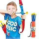 LGRQWER Niños De Juguete Arco Y Flecha, Tiro con Arco Arco De Seguridad con 3 Ventosas Flechas Fácil De Disparo Carry Caza Arcos Apto para Uso Interior Y Exterior,A