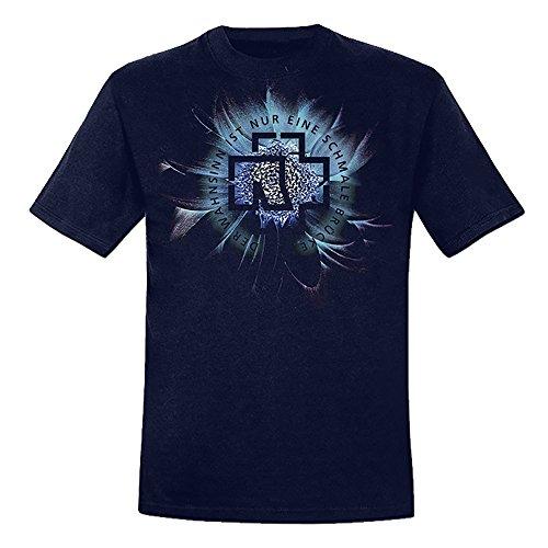 Rammstein Rammstein Herren T-Shirt Wahnsinn Offizielles Band Merchandise Fan Shirt dunkelblau mit mehrfarbigem Front Print (XXL)