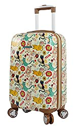 lily bloom hard side carry on luggage 20 inch