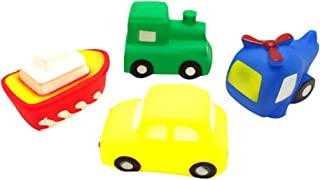 TOYANDONA 4 Pcs Baby Bath Toys Water Squirts Toys Vehicle Aquarium Animals Squirter Characters for Kids Children Baby