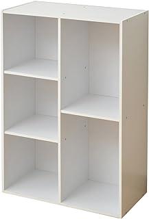 山善 カラーボックス 幅57.5×奥行29×高さ89cm 2・3段 A4ファイル対応 縦・横置き可 壁面 収納 組立品 ホワイト KGFR-1(WH)