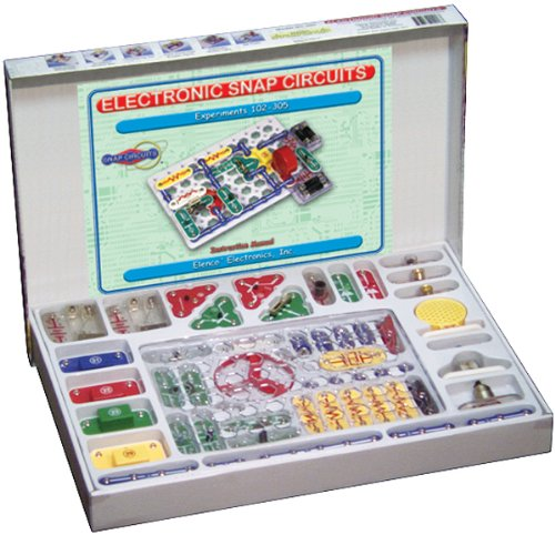 Snap Circuits Classic SC-300 Electronics Exploration Kit   Over 300 Projects   Full Color Project Manual   Snap Circuits Parts   STEM Educational Toy for Kids 8+