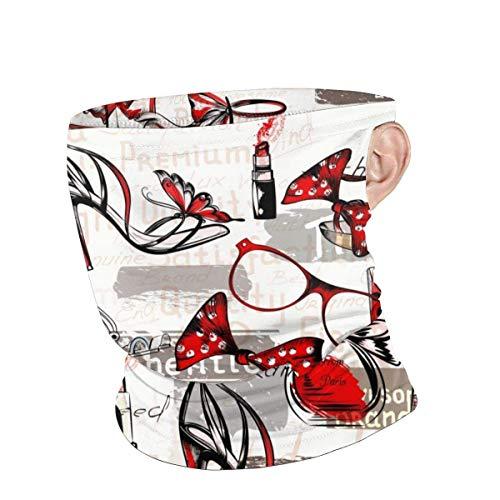 Niet toepasbaar gezichtsschild, vrouwelijk op een hoge hakken winddichte gezichtsbeschermer, mooie winddichte gezichtsverwarmers voor outdoor workout lopen, 25x30cm