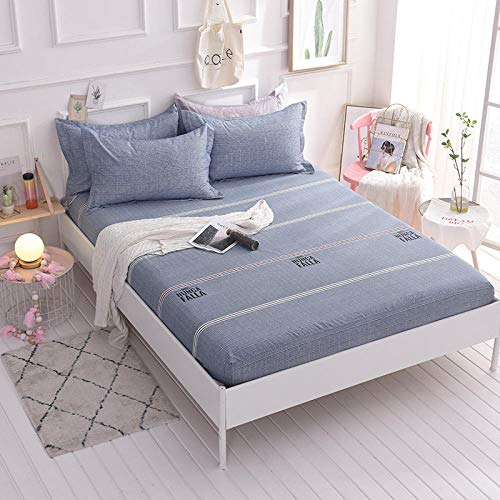 HPPSLT Protector de colchón - cubrecolchón Transpirable Sábana de Cama Individual 100% algodón, Funda completa-18_180 * 220cm