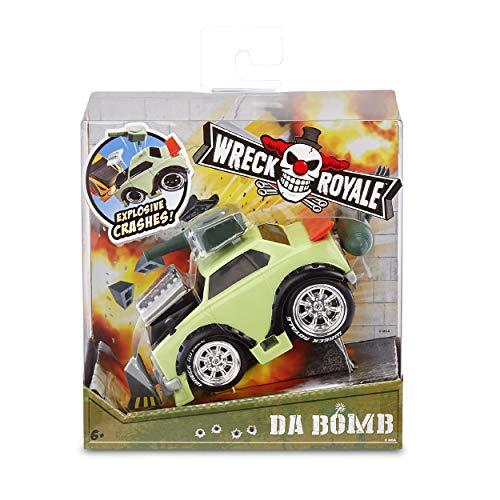 MGA Entertainment Wreck Royale Exploding Crashing Da Bomb Race Car with 4 Mix 'N Match Explosive Parts, Multicolor (565741)