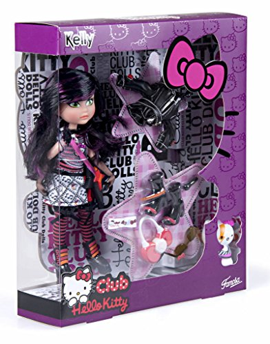 Hello Kitty - Muñeca Kelly con Trousseau Rock (Famosa 700011671)