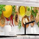 StickerProfis Küchenrückwand selbstklebend Pro KÜCHENZAUBER 60 x 280cm DIY - Do It Yourself PVC Spritzschutz