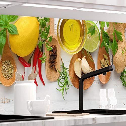 StickerProfis Küchenrückwand selbstklebend Pro KÜCHENZAUBER 60 x 60cm DIY - Do It Yourself PVC Spritzschutz